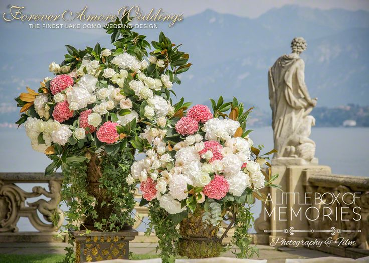 Giant arrangements in Italian style for wedding at Villa Balbianello. Event by www.foreveramoreweddings Picture by www.albom.co.uk #villabalbianellowedding #foreveramoreweddings #lakecomoweddingbalbianello