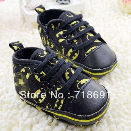 Batman converse baby shoes