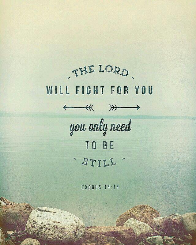 Exode 14:14  L'Eternel combattra pour vous; et vous, gardez le silence.
