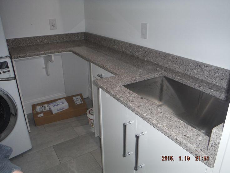 Silestone alpina white quartz kitchen install for the - Silestone showroom ...