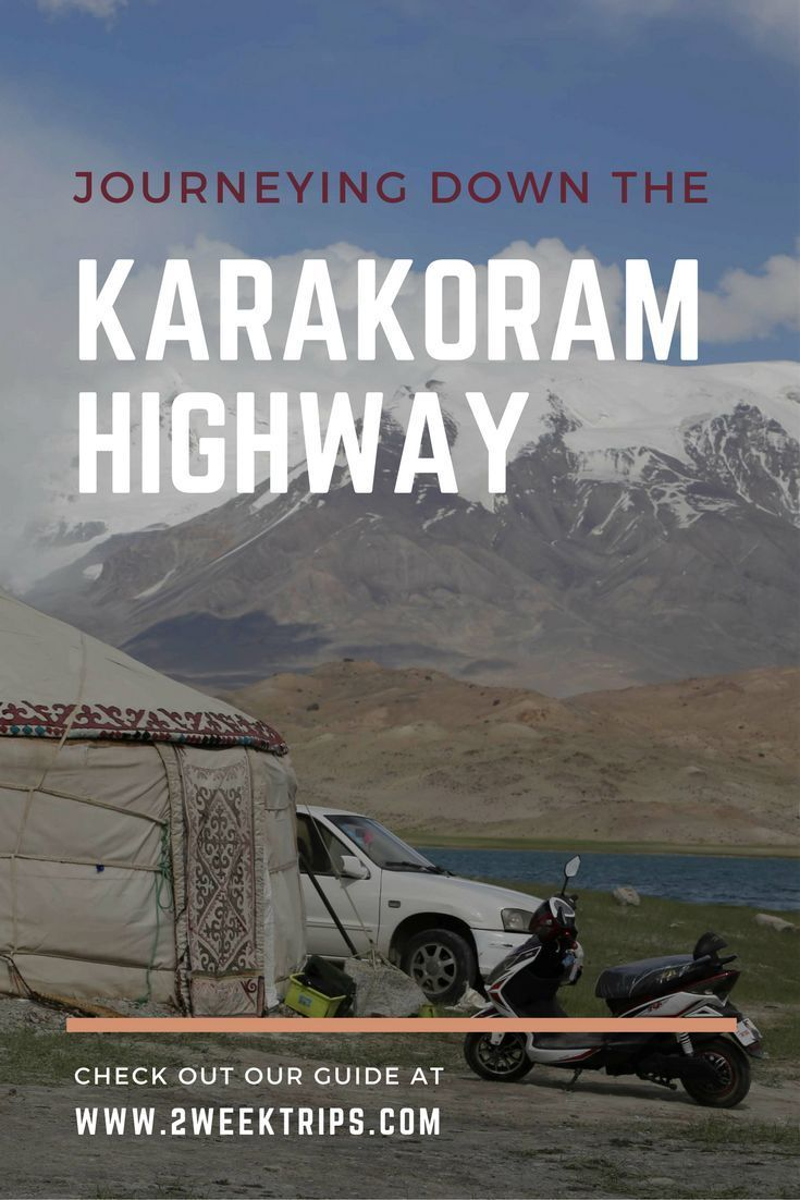 The Karakoram Highway connects Western China to Pakistan. Along the way, it passes through the ancient Silk Road towns of Kashgar and Tashkurgan towards South Asia. The road winds past the scenic alpine Lake Karakul, through picturesque valleys and up the rugged mountain ranges of the Himalayas.