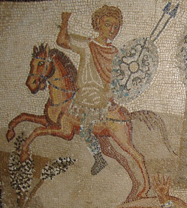 Horses and riders from Roman mosaic from Libya Strabo, in ''Geography'' book XVII, wrote on Numidian/Libyan Horse and the various tribes that rode or used horses in Numidia/Lubia :      ''Their horsemen are mostly with a javelin, using bridles made of rush, and riding bareback; but they also carry daggers... the Libyans in general, dress alike and are similar in all other respects, using horses that are small but swift, and so ready to obey that they are governed with a small rod.