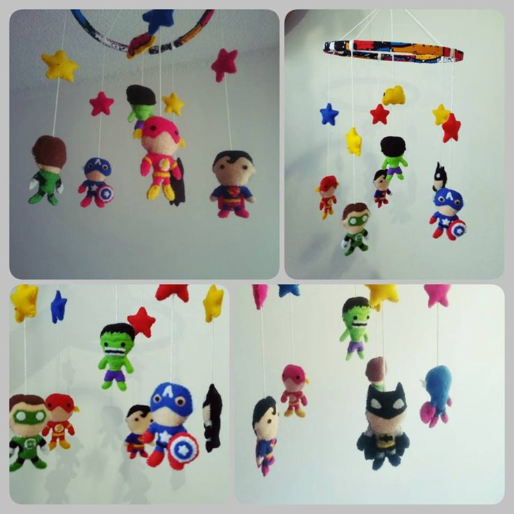 #babymobile #superheroes #batman #flash #hulk #superman #linternaverde #capitan america