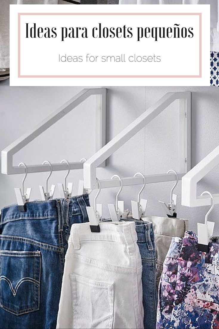 Ideas para closets peque os ideas for small closets for Ideas para closets pequenos