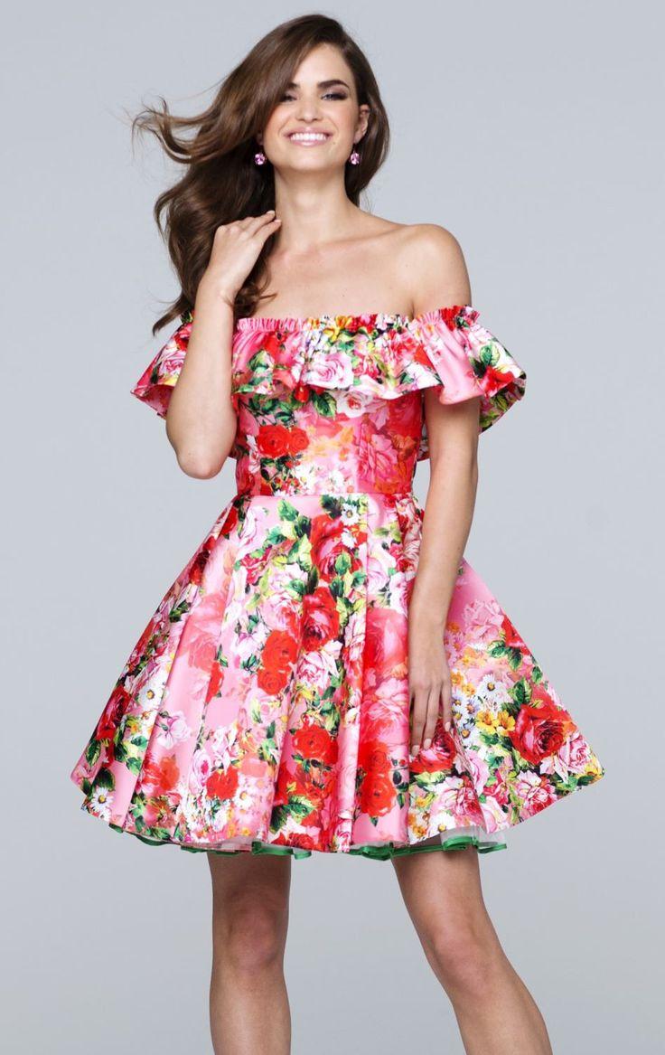 72 best VESTIDOS CON FLORES. images on Pinterest | Dancing, Dress ...