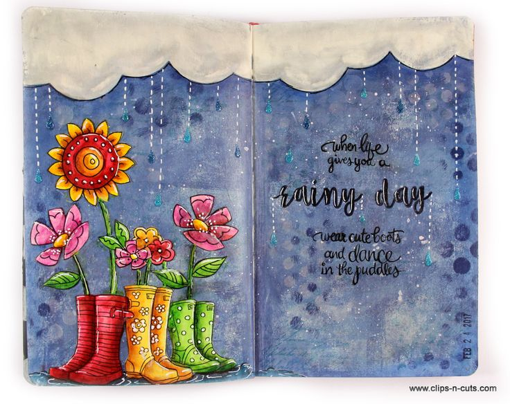 Clips-n-Cuts | Art journal | rainy day | http://www.clips-n-cuts.com