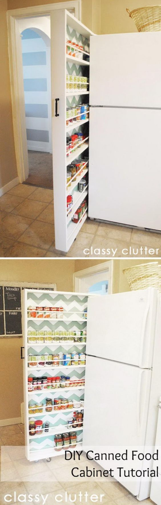 DIY Slide Out Pantry.