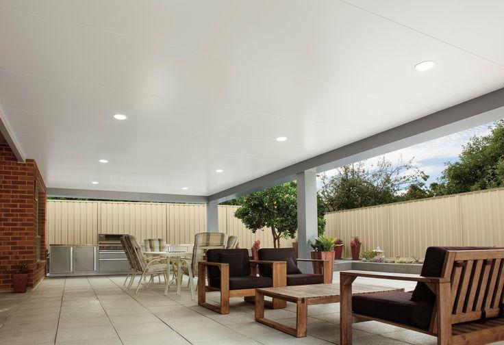 Flat patio designs - Pavilion beams