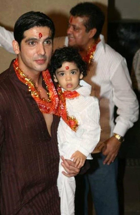 Zayed Khan with his son Ziddan.