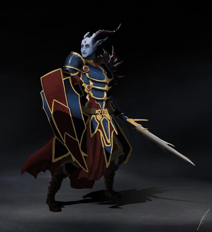ArtStation - Dragon Warrior, Tomasz Baraniecki