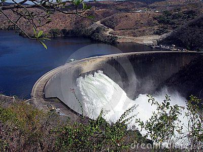 View of the Kariba Dam in Zimbabwe