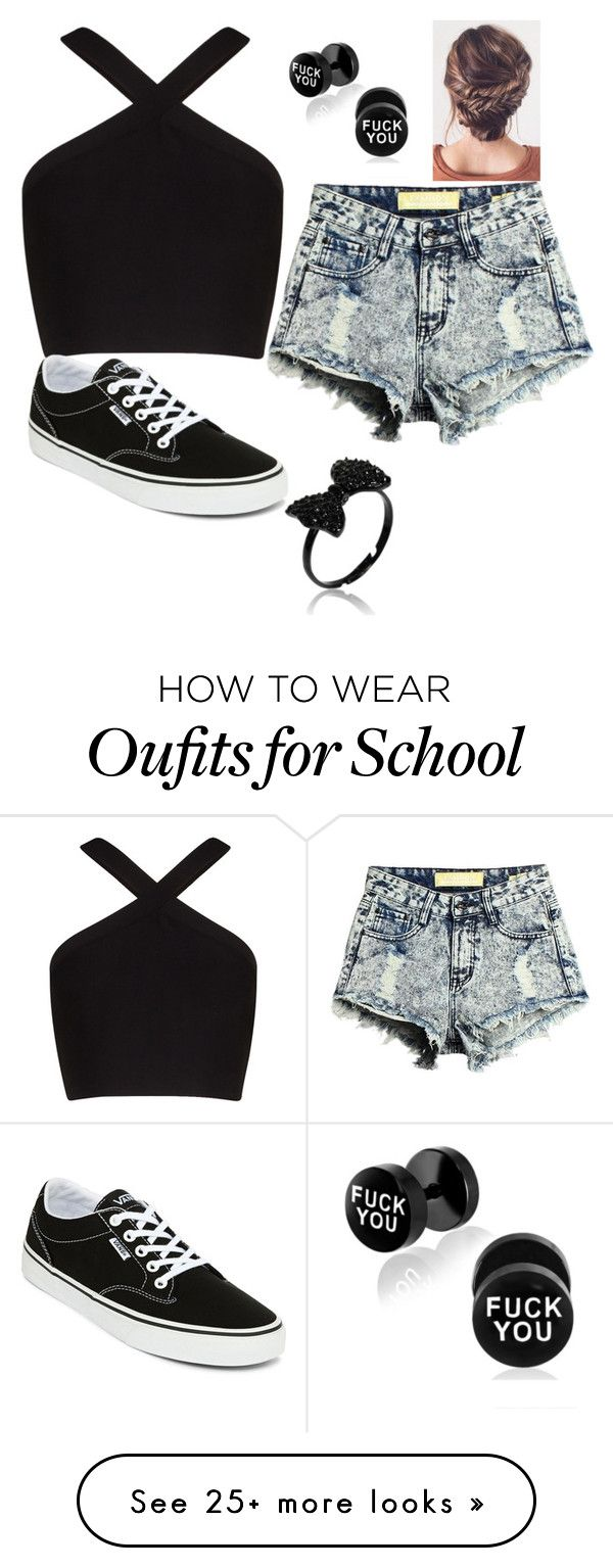 "Supernatural Style | https://pinterest.com/SnatualStyle/  ""school outfit"" by pbetzy on Polyvore featuring BCBGMAXAZRIA and Vans"