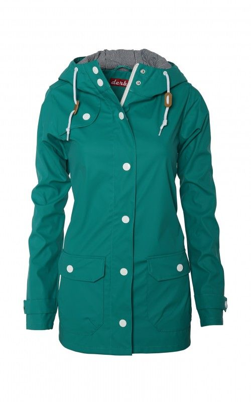 Derbe Peninsula Fisher Grün Damen Regenjacke Jacke Türkis