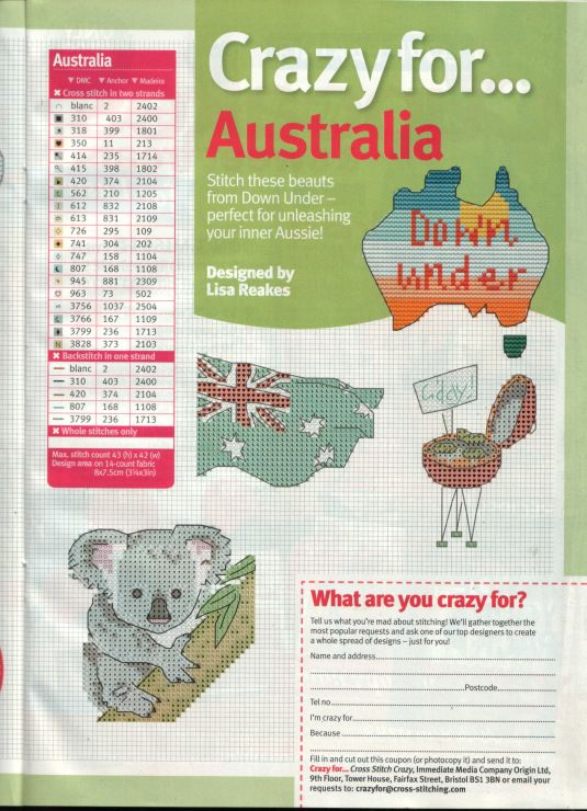I am CRAZY for Australia.