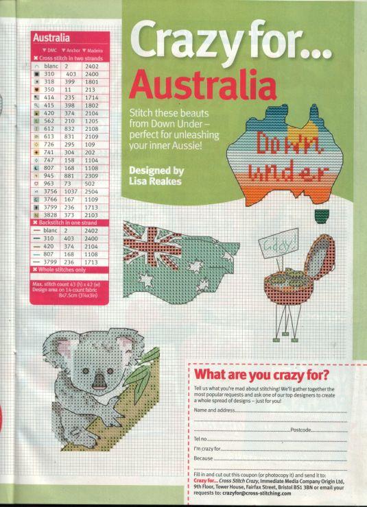 I am CRAZY for Australia.