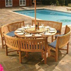 Buckingham Round Dining Table | Westminster Teak