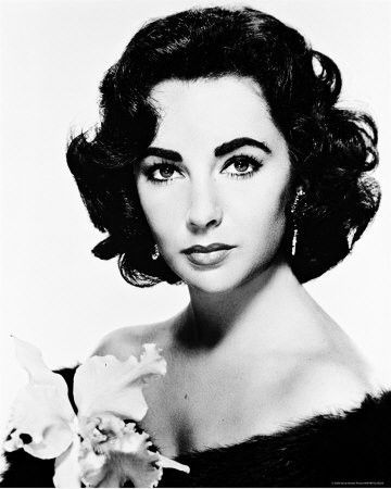 1950s Liz Taylor, thinking of dying the hair black to look like this!