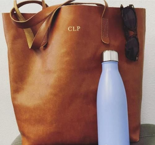 Jon Hart Personalized Everyday Leather Tote   Apparel & Accessories > Handbags > Tote Handbags