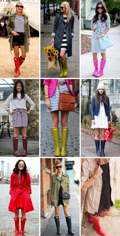 how to wear rain boots outfits wellies - hoe regenlaarzen dragen looks combineren