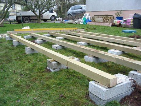 Base raised on blocks garden building bases pinterest for Jardin 4x6 shed