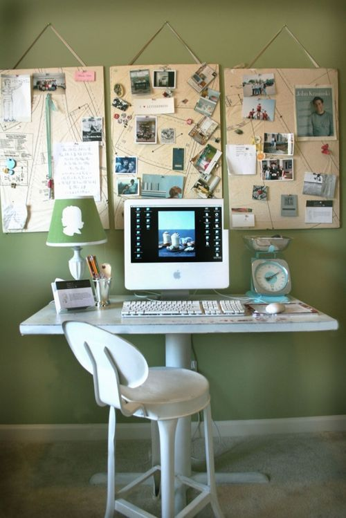 Simple notice board idea for the home office