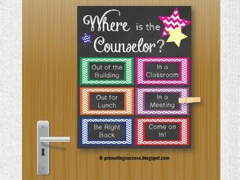 School Counselor Office Door Decoration Counseling Gift Ba