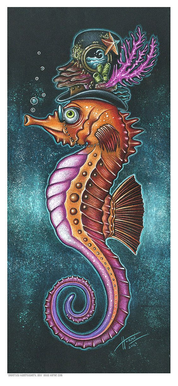 Doug Horne limited edition finr art print Boy Seahorse