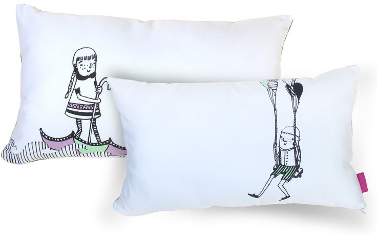 FULL OF FUN collection of decorative pillows. for KIDS.The best fitted accent to the room of every child. by deko boko.