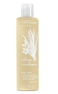 Caswell Massey Botanicals Vetiver & Cardamom Body Wash — Giftwerks With its gentle de-stressing scent, this body wash gently cleanses and detoxifies the skin, leaving it silky, softly scented and restored with a natural glow. Golden Root Extract: calms and lavishes skin with its soothing and healing properties. Made in America  Fragrance: Clear, comforting Vetiver combined with subtle and spicy Cardamom.
