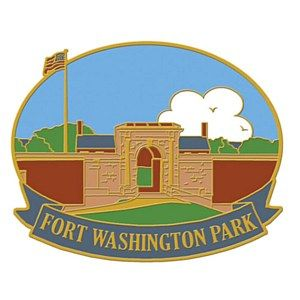 Display all your adventures with the Fort Washington Park Pin.