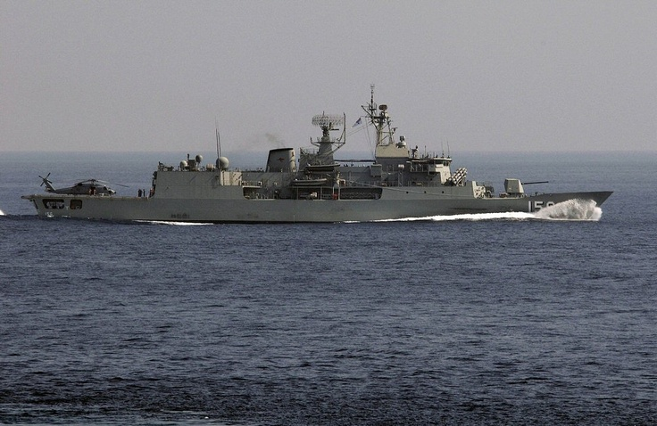 HMAS Toowoomba (FFH 156) is the seventh Anzac class frigate of the Royal Australian Navy. She was laid down in 2002 and commissioned in 2005. Toowoomba began her first deployment to the Middle East Area of Operations as part of Operation Slipper on 04 January 2007.
