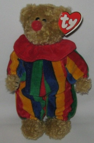 Piccadilly The Clown Bear Ty Attic Treasures Beanie Baby