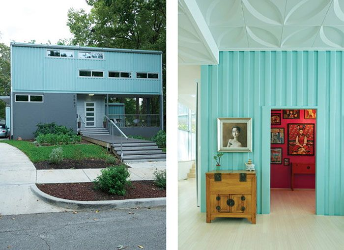 How to Convert Five Shipping Containers Into a Cozy Modern Home | HomeDSGN