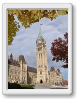 Parliament of Canada guided tours take visitors through public galleries, to the Senate and House of Commons (when not in session) and to the top of the Peace Tower, where an observation deck provides the most dramatic 360º view of Ottawa, Canada's Capital. For more information on capital sites and Canadian heritage visit http://www.ottawatourism.ca/en/visitors/what-to-do/capital-heritage
