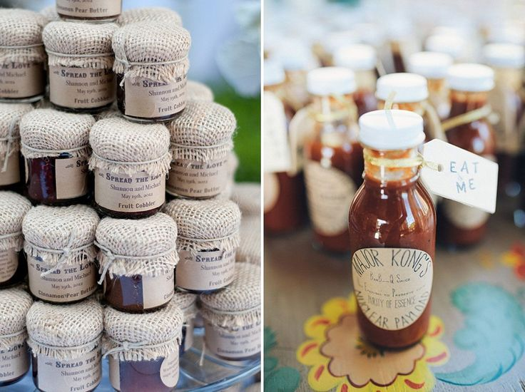 Homemade Jam Wedding Favour and Pickles Wedding Favour | Wedding Ideas | Wedding inspiration | http://www.rockmywedding.co.uk/ten-beautiful-wedding-favours-your-guests-will-actually-love/
