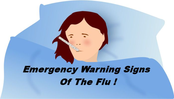 What are the emergency warning signs of flu sickness? - My Honeys Place