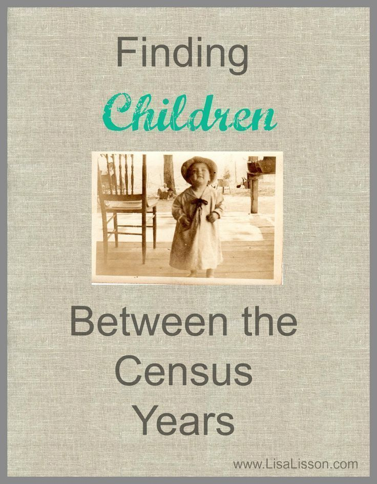 Your ancestor may have had children who lived in between the census years.Here are tips to find them and fill out your family tree.
