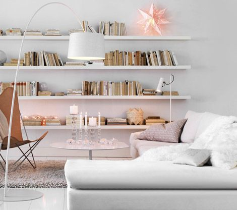 Bookshelves; this would work amazingly with our #eco Wall Shelves! (http://www.waybasics.com/wall-shelf.html)
