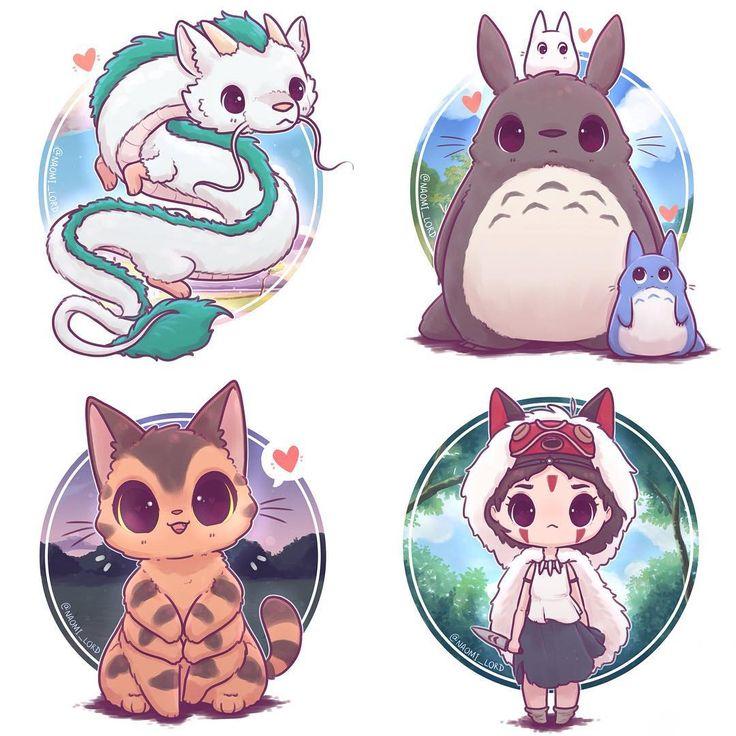 I really enjoyed my little Kawaii Ghibli series :3…