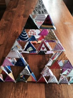 Another fun Family Math Night collaborative project...the Sierpinski Pyramid.