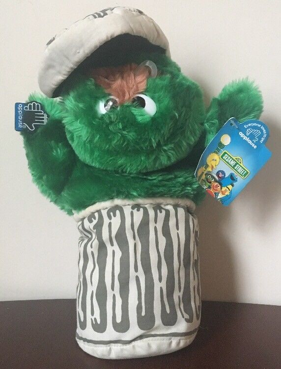 Sesame Street Oscar The Grouch Vintage Applause Plush Garbage Can Green Monster | Toys & Hobbies, TV, Movie & Character Toys, Muppets, Sesame Street | eBay!