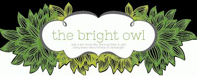 The Bright Owl - Links to over 250 tangle step outs