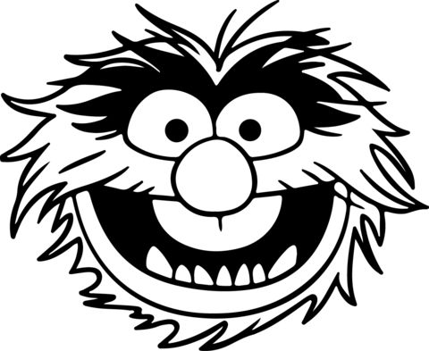 The Muppets Animal Face Decal Disney Pinterest