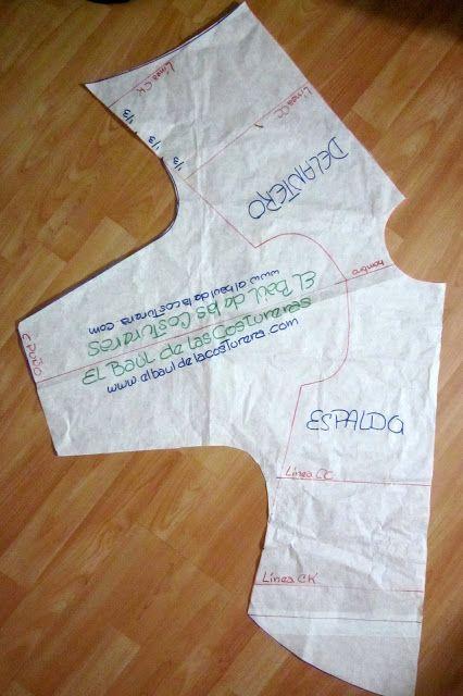 EL BAÚL DE LAS COSTURERAS: Blusa para niña manga dolman y bajo asimetrico