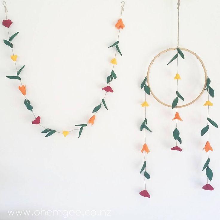 ▪||▪ M A T C H Y . M A T C H Y ▪||▪ Made a matching garland today. These can be custom made in any colours. #networknz #nnzmo #tauranga #newzealand #nzflorist #kidsinteriors #kidsroom #kidsdecor #felt #handmade #madeinnz #boho #whimsical #nzweddingideas #weddingdecor