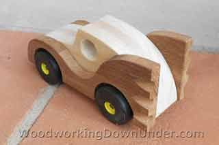 Free plans to make a Batmobile toy car. Full size patterns with step by step instructions.