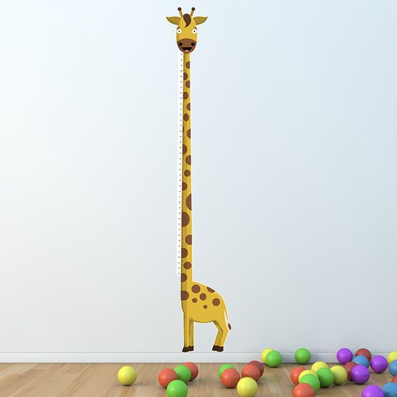 Growth Chart Inch The Tallest Giraffe  Height Chart by mikimottes, $49.95