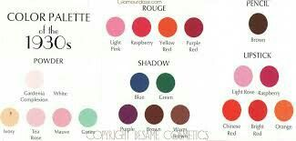 The colors that were used in 1930.