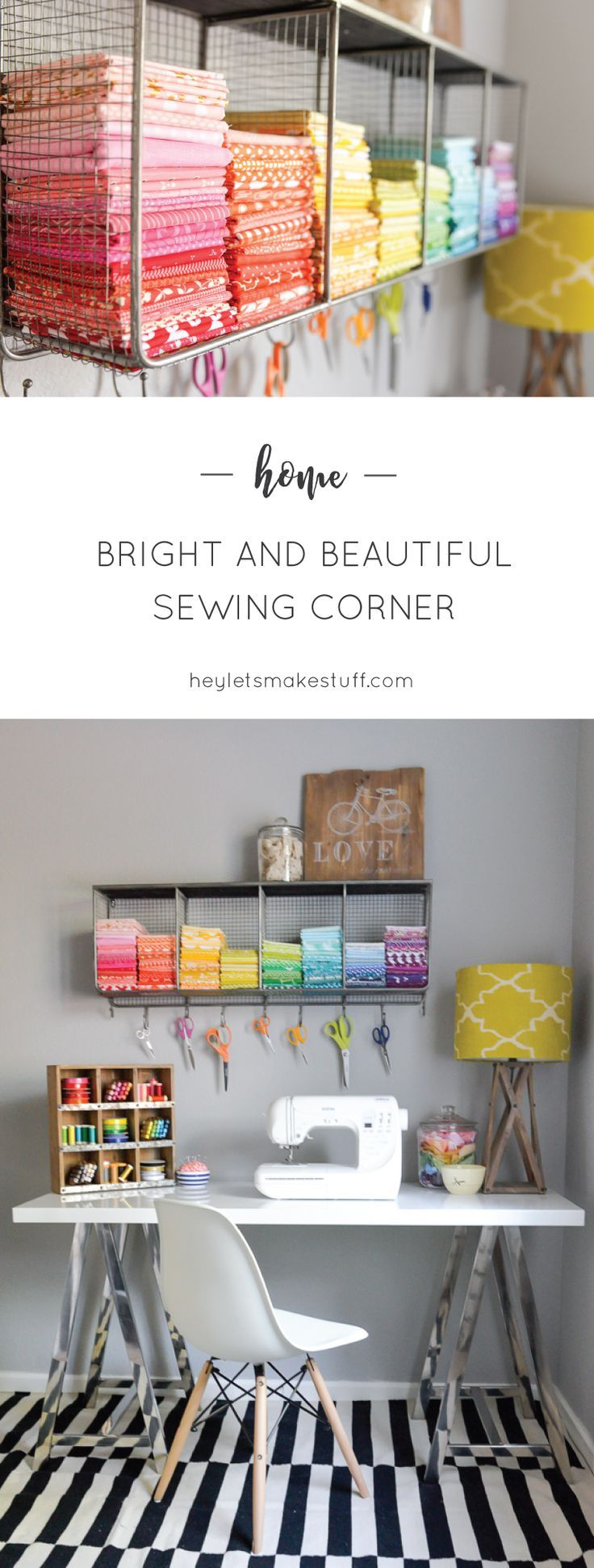 Took my boring sewing space and made it bright and fun, thanks to /worldmarket/! Loving all the fun details to showcase my space. #SpruceUpYourSpace #ad #WorldMarketTribe