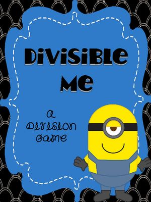 Divisible Me - A Division Review Game from An Apple For The Teacher on TeachersNotebook.com (24 pages)